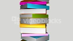 Tower of colorful books