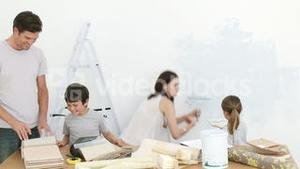Family painting home