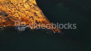 Aerial of beautiful cliff and sea