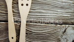 Wooden spatula on table