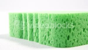 Close-up of cleaning sponge