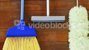 Broom, duster and floor cleaner