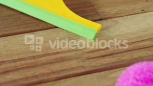 Squeegee for cleaning window glass and cleaning sponge