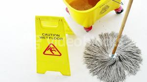 Cleaning floor using a mop