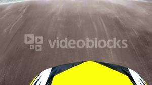 Racing car moving on race track