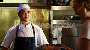 Chef working in a restaurant