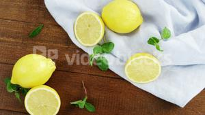 Lemon on table
