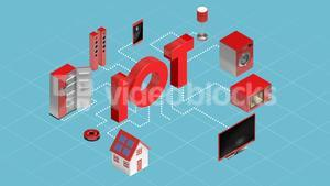 Home appliances connecting through internet of things