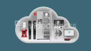 Home appliances in cloud shape for internet of things