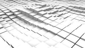 White blocks moving in wavy pattern