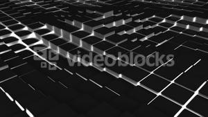 Black blocks moving in wavy pattern