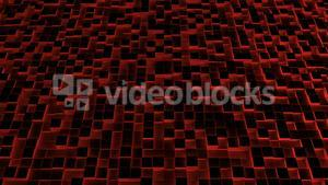 Red illuminated blocks moving in up and down pattern