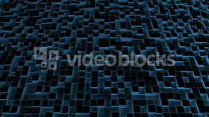 Blue illuminated blocks moving in up and down pattern