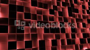 Red illuminated blocks moving in and out