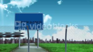 Conceptual borders animation for business opening