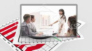 Business videos appearing with diagram in the background