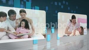 Family videos flowing over network