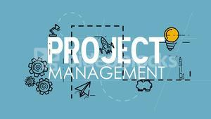 Project management strategy process planning organization concept