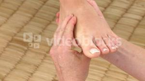 Young woman having a foot massage