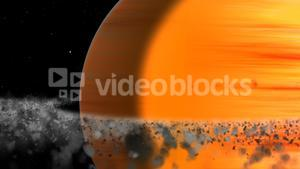 Close-up of sun in solar system