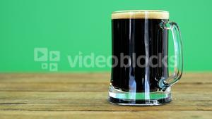 Guinness pint on table for st patrick
