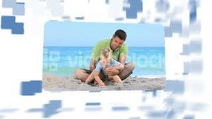 Montage about families on holidays