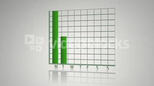 Green animated economical data