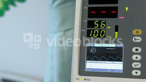 Close-up of heart rate monitor