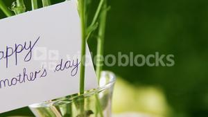 Happy mother day card on flower vase