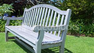Empty bench in garden