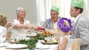 Joyous Christmas family occasion