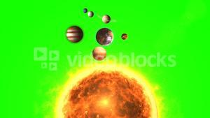 Planets revolving around the sun