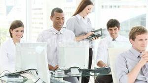 Business team working in an office