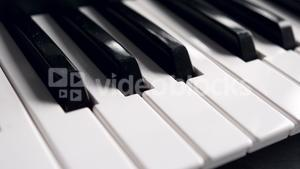 Black and white piano keys on the keyboard