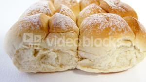 Bread buns on white background