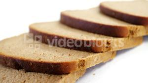 Sliced bread on white background