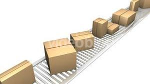 3d boxes in a factory