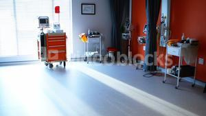 Empty ward with medical equipment