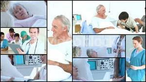 Montage of Elderly people in Hospital