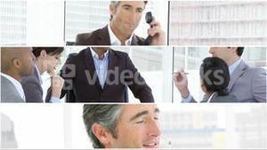 Crreative montage of Business people at work
