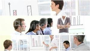 Video montage of a business presentation